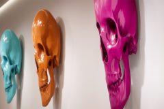 Eidos Skulls - resin with automotive paint, by Javier Murcia